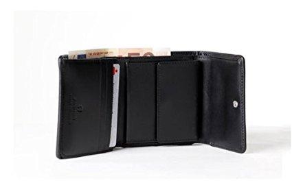 Aigner Damen Geldbörse Portemonnaie Zippbörse Leder