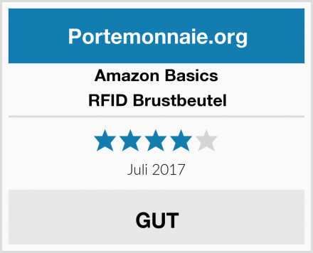 Amazon Basics RFID Brustbeutel Test