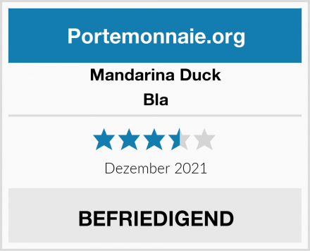 Mandarina Duck Bla Test