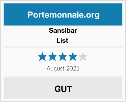 Sansibar List  Test