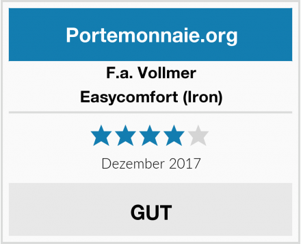 F.a. Vollmer Easycomfort (Iron) Test