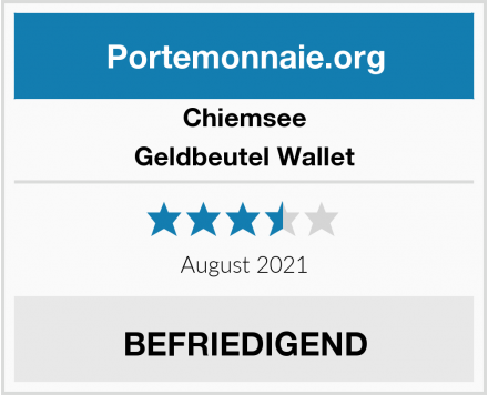 Chiemsee Geldbeutel Wallet Test