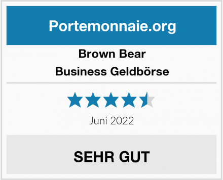 Brown Bear Business Geldbörse Test