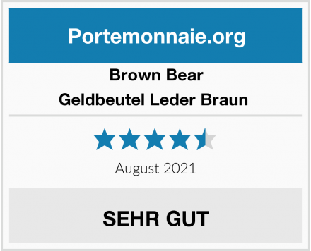 Brown Bear Geldbeutel Leder Braun  Test