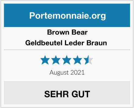 Brown Bear Geldbeutel Leder Braun  Test