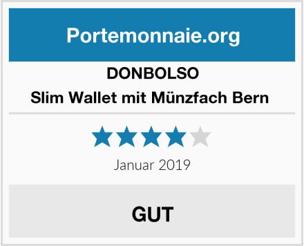 DONBOLSO Slim Wallet mit Münzfach Bern  Test