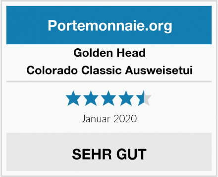 Golden Head Colorado Classic Ausweisetui Test