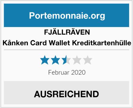 FJÄLLRÄVEN Kånken Card Wallet Kreditkartenhülle Test