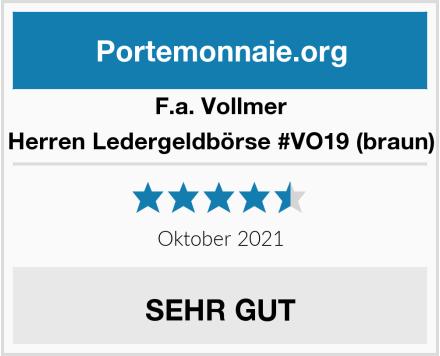 F.a. Vollmer Herren Ledergeldbörse #VO19 (braun) Test