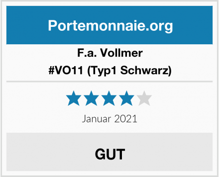 F.a. Vollmer #VO11 (Typ1 Schwarz) Test