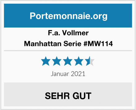 F.a. Vollmer Manhattan Serie #MW114 Test