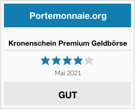 Kronenschein Premium Geldbörse Test