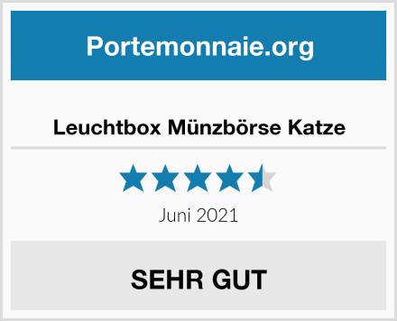 Leuchtbox Münzbörse Katze Test