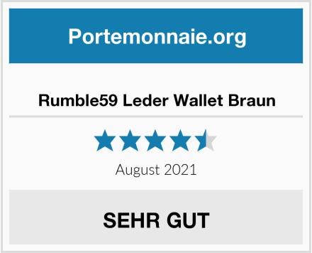 Rumble59 Leder Wallet Braun Test