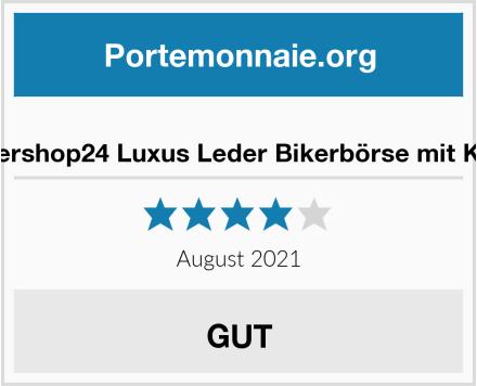 Ledershop24 Luxus Leder Bikerbörse mit Kette Test