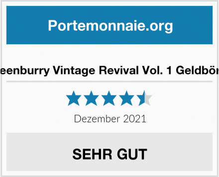 Greenburry Vintage Revival Vol. 1 Geldbörse Test