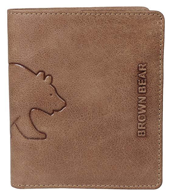 Brown Bear Geldbörse Hochformat