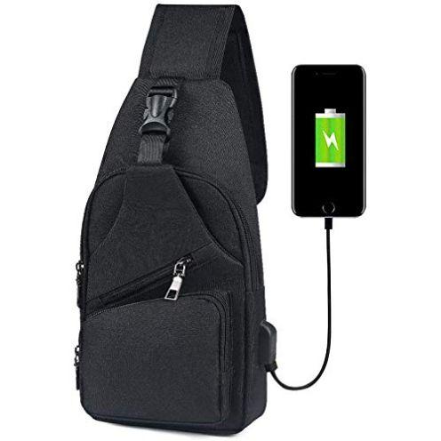 flintronic Brusttasche mit USB-Aufladung