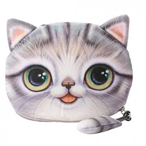 Leuchtbox Münzbörse Katze
